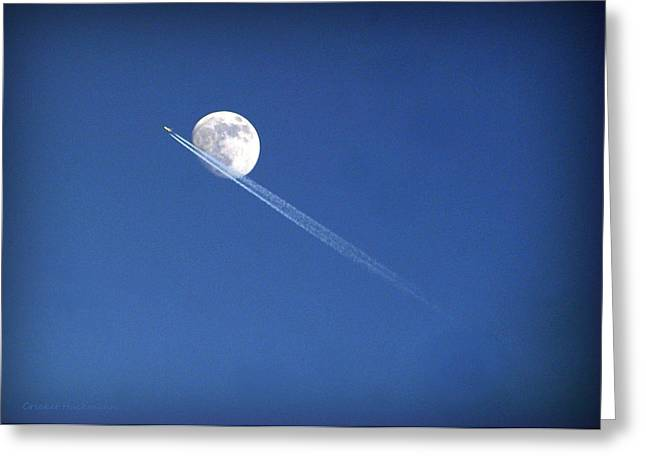 Fly Me To The Moon Greeting Card by Cricket Hackmann