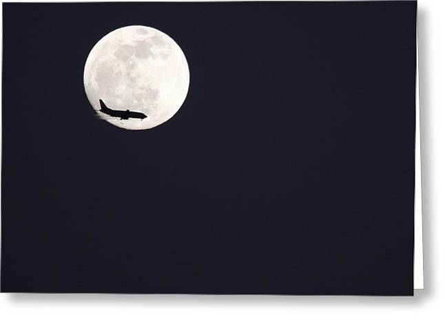 Greeting Card featuring the photograph Fly Me To The Moon by Nathan Rupert