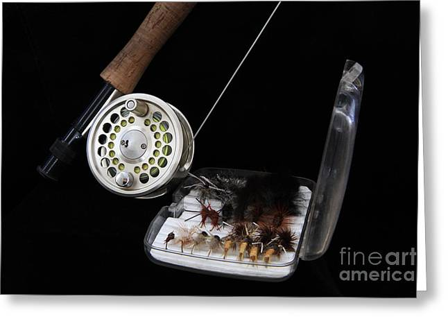 Fly Rod And Fly's Greeting Card