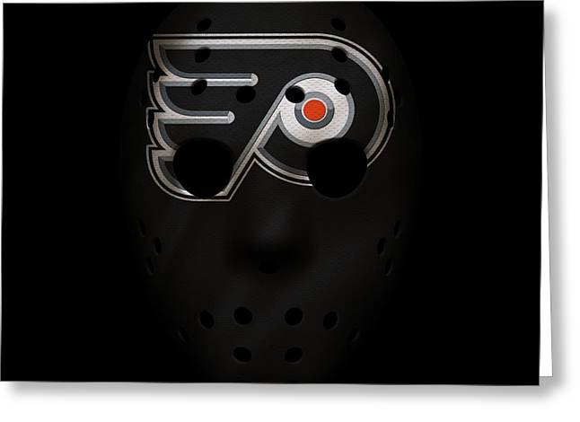 Flyers Jersey Mask Greeting Card