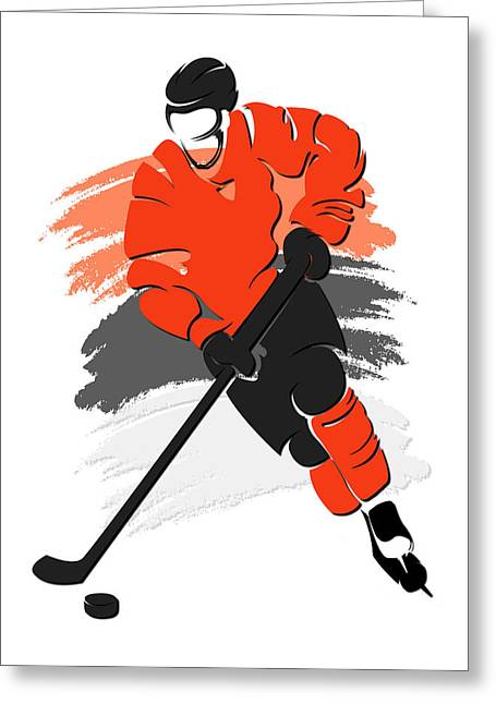 Flyers Shadow Player2 Greeting Card
