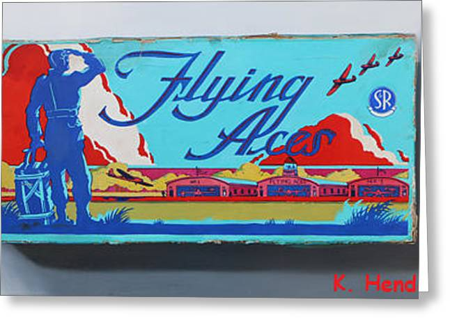 Flying Aces By K Henderson Greeting Card by K Henderson