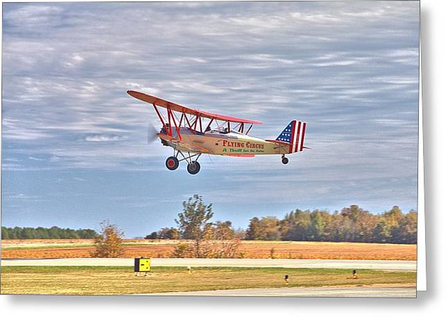 Flying Circus Barnstormers Greeting Card by Gordon Elwell