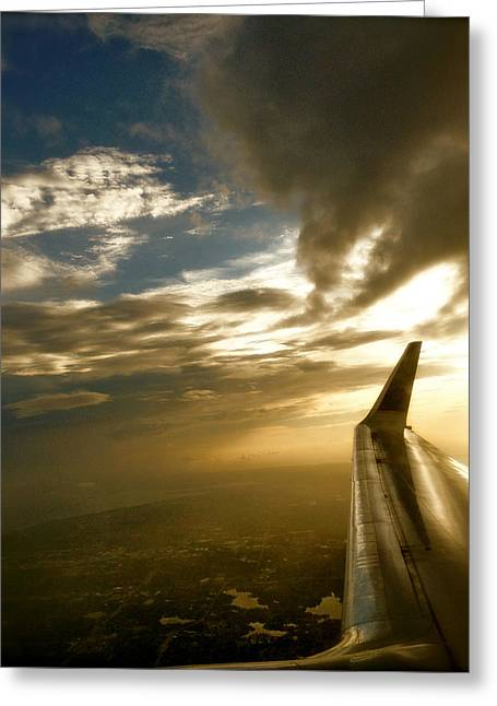 Flying Clouds By David Pucciarelli Greeting Card