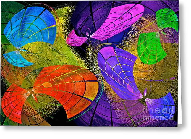 Flying Colors Greeting Card by Gwyn Newcombe