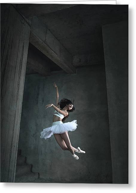 Flying Dance Greeting Card