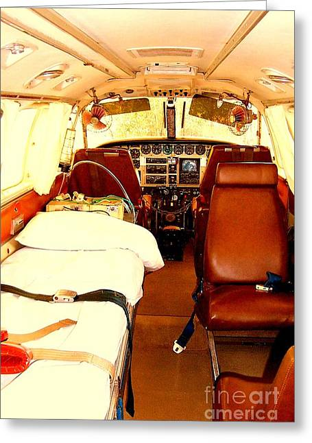 Flying Doctor Plane Greeting Card by John Potts