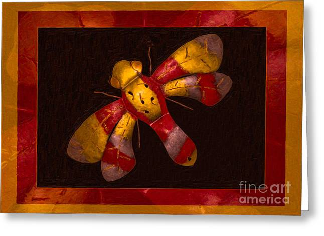 Flying Fantasies Of Light Abstract Painting Greeting Card