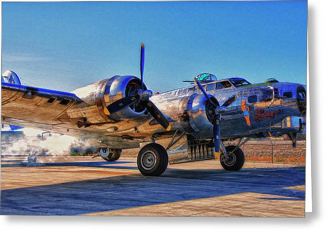 Flying Fortress Sentimental Journey Greeting Card