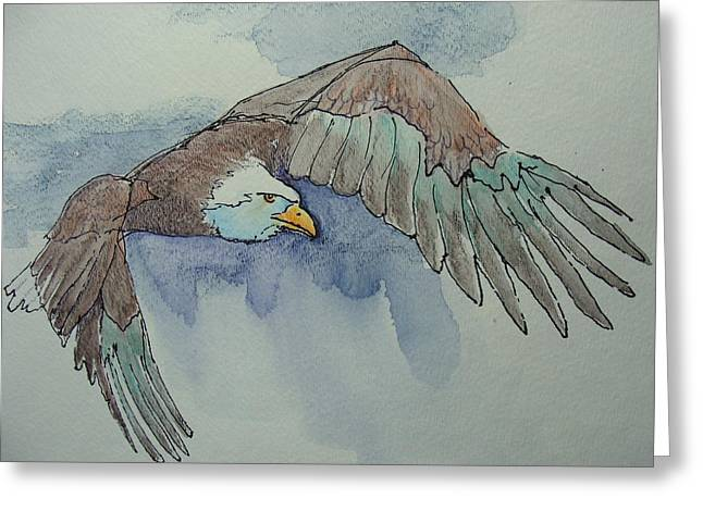 Flying Free Greeting Card by Judy Fischer Walton