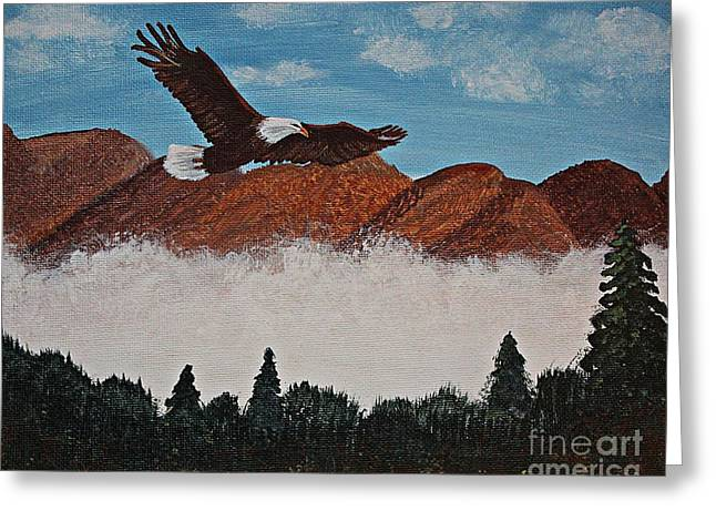 Flying High Greeting Card by Barbara Griffin