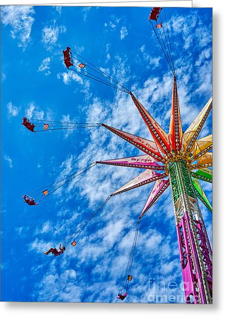 Flying High Greeting Card by Matt Suess