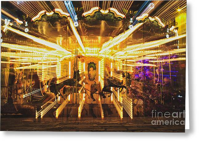 Flying Horses Carousel  Greeting Card