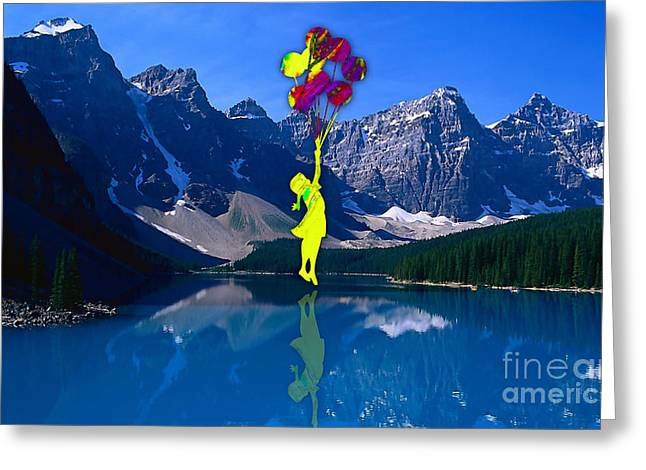 Flying In My Dream Greeting Card by Marvin Blaine