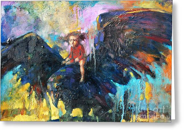Flying In My Dreams Greeting Card by Michal Kwarciak