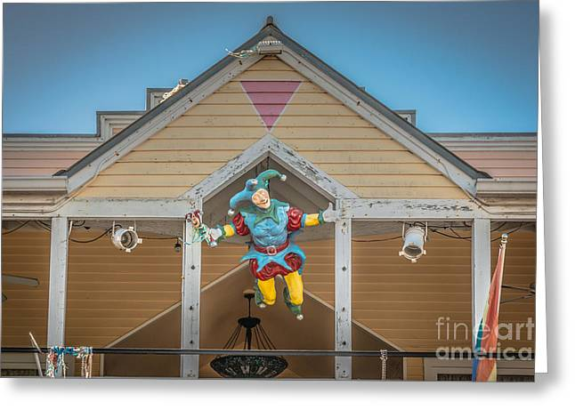 Flying Jester 2  Duval Street Key West - Hdr Style Greeting Card by Ian Monk
