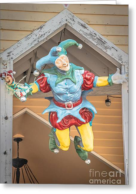 Flying Jester Duval Street Key West - Hdr Style Greeting Card by Ian Monk