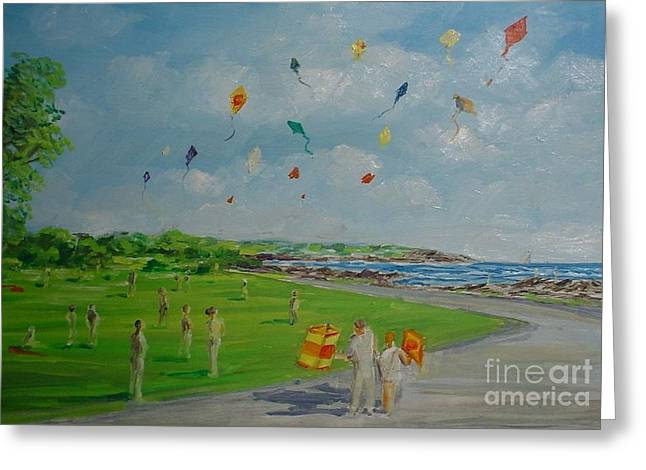 Flying Kites Newport Ri Greeting Card