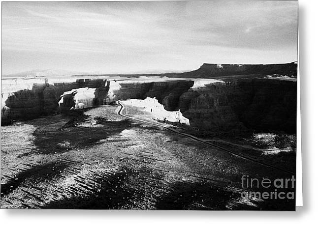 Flying Over Land Approaches To The Rim Of The Grand Canyon At Guano Point In Hualapai Indian Reserva Greeting Card by Joe Fox