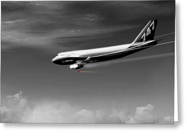Flying Safe - Boeing 747 Greeting Card
