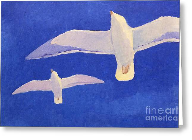 Flying Seagulls Greeting Card
