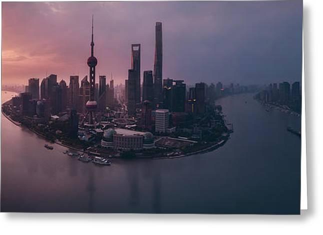 Flying Shanghai Greeting Card