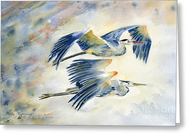 Flying Together Greeting Card
