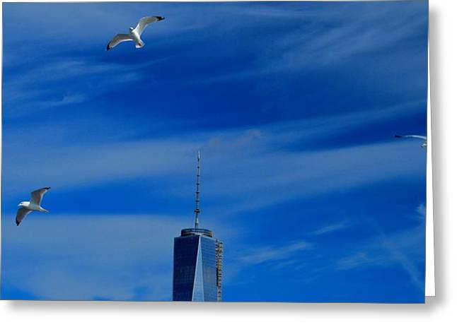 Flyover One World Trade Center Greeting Card