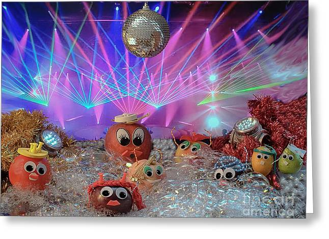 Foam On The Dance Floor Better Than In The Glass Greeting Card by Lyudmila Prokopenko