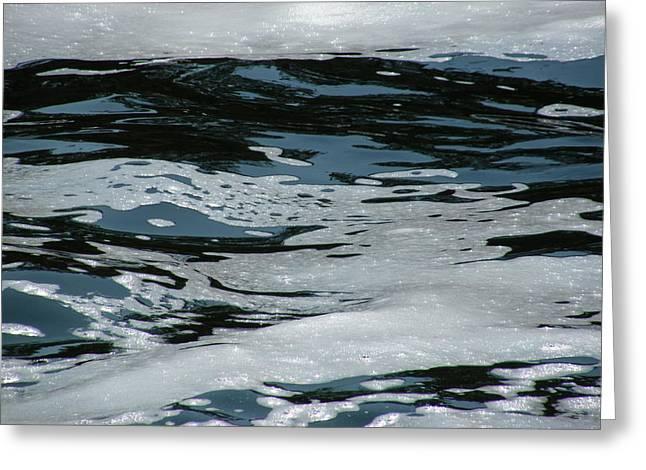 Foam On Water Greeting Card