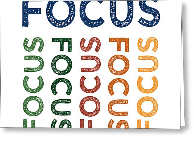 Focus Cute Colorful Greeting Card by Flo Karp