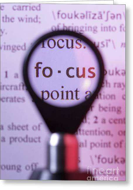 Focus Greeting Card by GIPhotostock