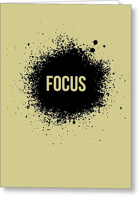 Focus Poster Grey Greeting Card by Naxart Studio