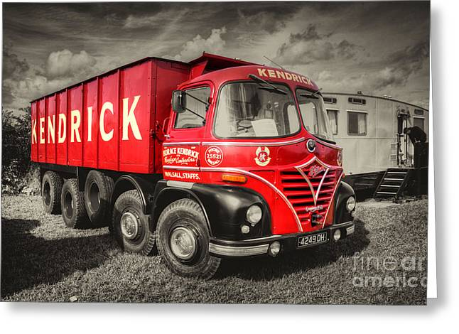 Foden S21a    Greeting Card by Rob Hawkins