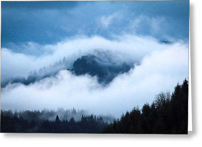 Fog After Storm Greeting Card by Katie Wing Vigil