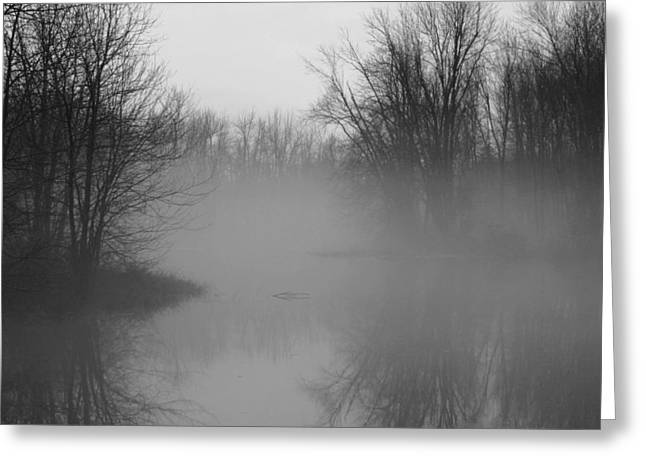 Greeting Card featuring the photograph Fog At Mud Creek by Jim Vance