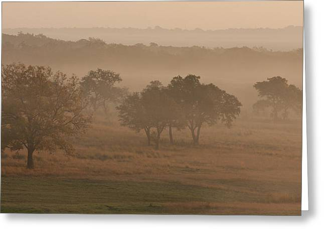 Fog In The Hills 2 Greeting Card by Paul Huchton