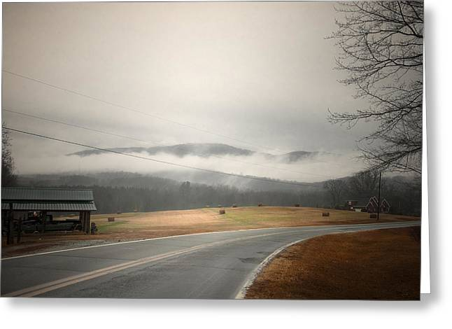 Fog In The Hollow Greeting Card by Cindy Rubin