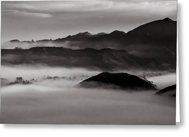 Fog In The Malibu Hills Greeting Card by Joe Doherty