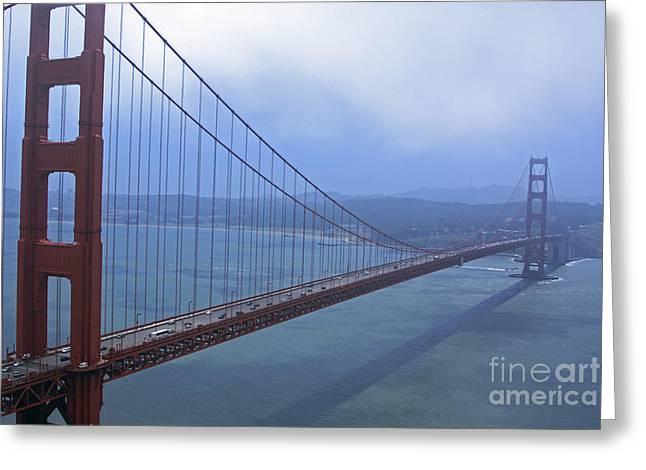 Fog Lifting Over The Golden Bridge  Greeting Card
