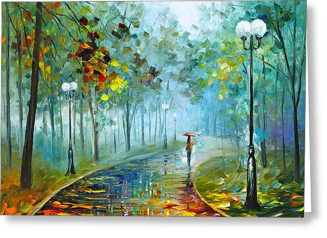 Fog Of Passion Greeting Card by Leonid Afremov