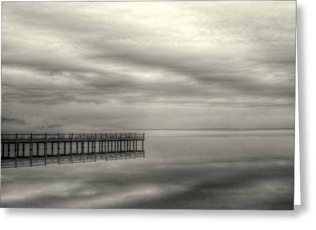 Fog On The Chesapeake  Greeting Card by JC Findley
