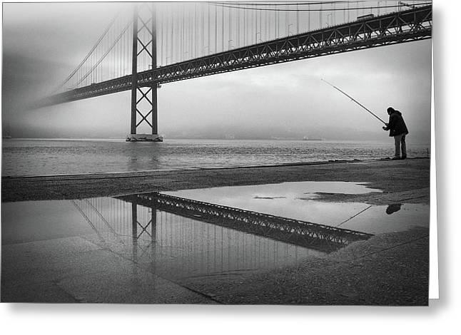 Fog On The Tagus River ! Greeting Card