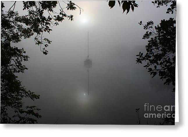 Fog On The Water Greeting Card by Joseph Marquis