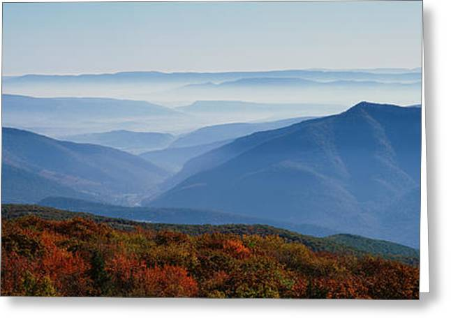 Fog Over Hills, Dolly Sods Wilderness Greeting Card