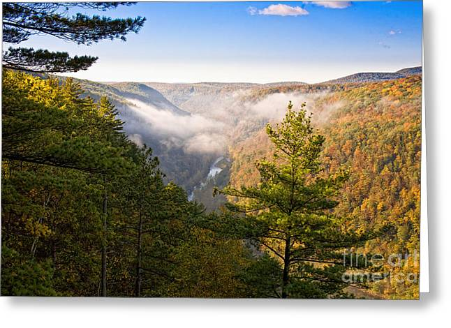 Fog Over The Canyon Greeting Card