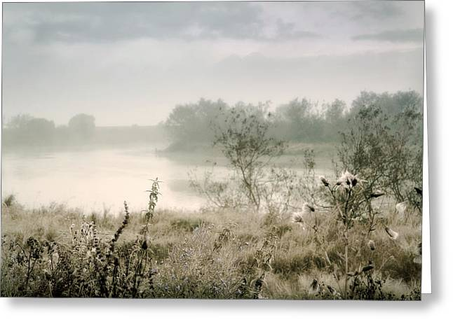 Fog Over The River. Stirling. Scotland Greeting Card by Jenny Rainbow