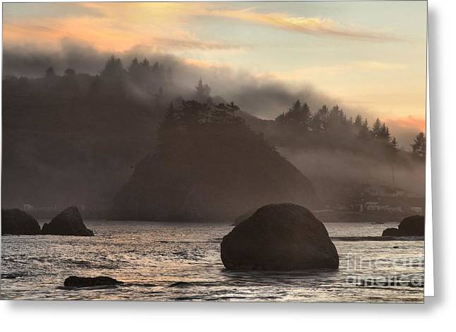 Fog Over Trinidad Greeting Card by Adam Jewell