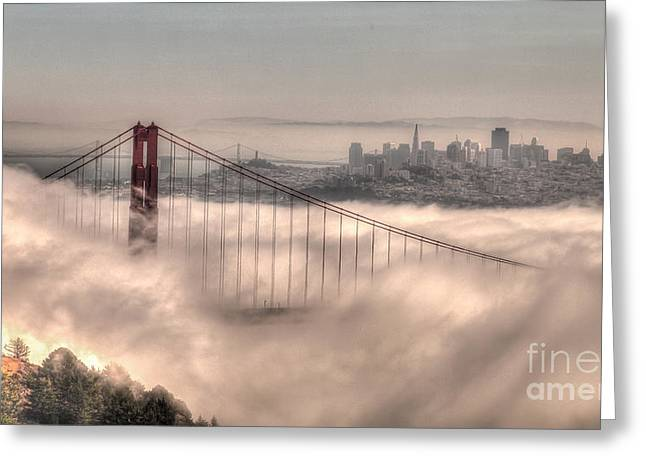 Greeting Card featuring the photograph Fog Roll by Charles Garcia