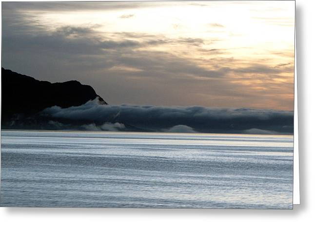 Greeting Card featuring the photograph Fog Roll Sunset by Jennifer Wheatley Wolf